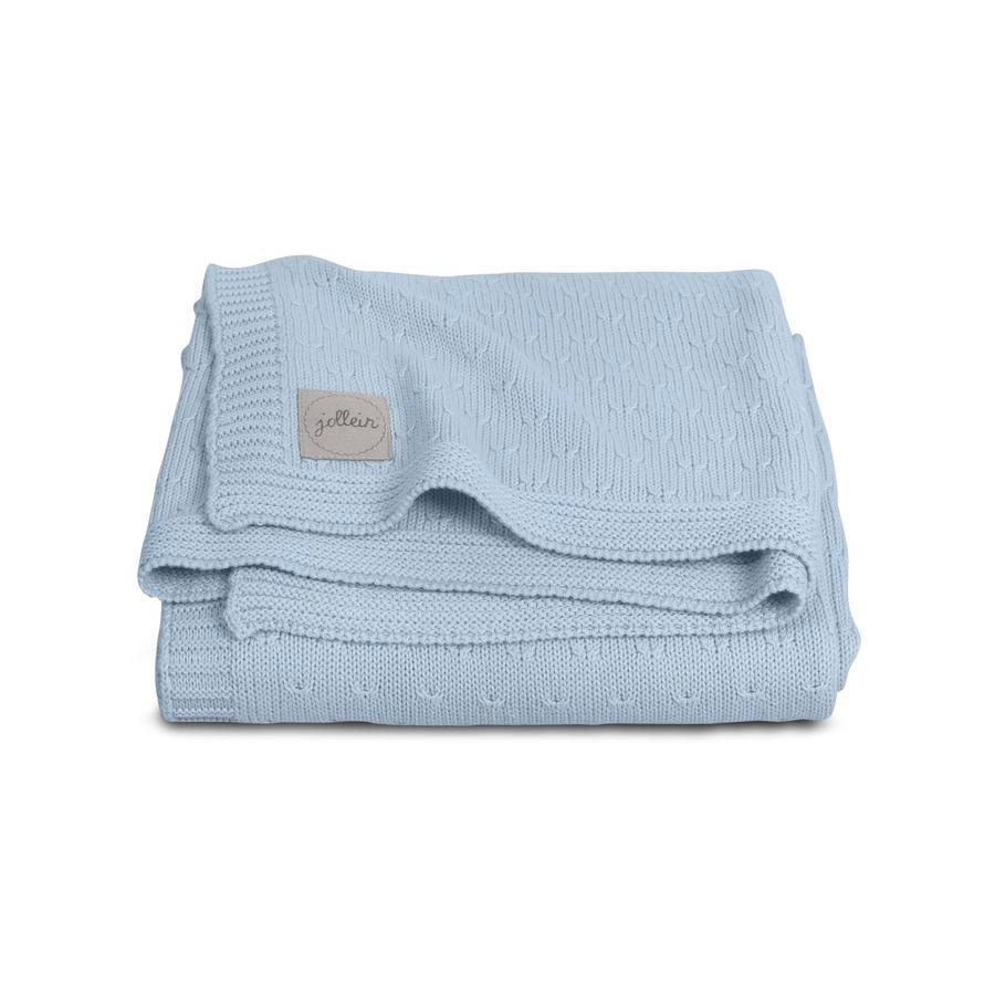 jollein Strikket tæppe soft blue 75x100cm