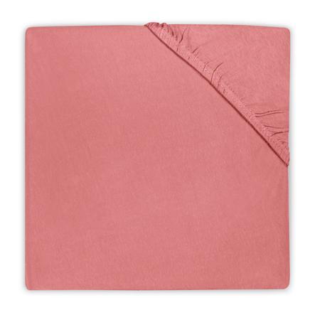 jollein Prześcieradło z gumką Jersey coral pink 90x200cm