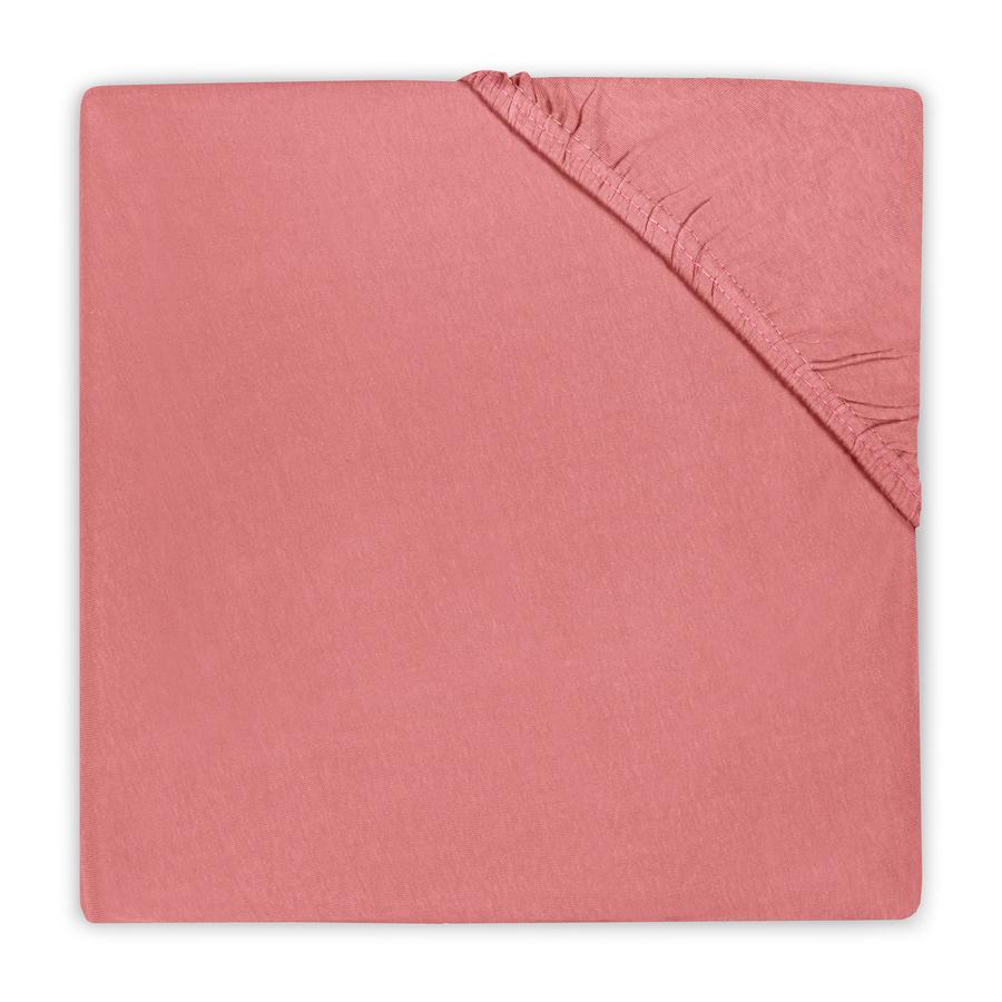 Jollein Hoeslaken Jersey coral pink 90x200cm