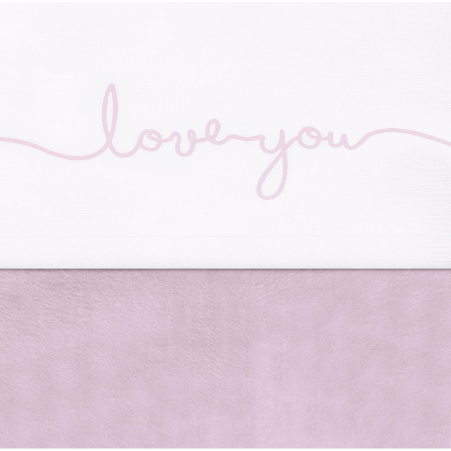 jollein Drap de lit love you vintage rose 120 x 150 cm