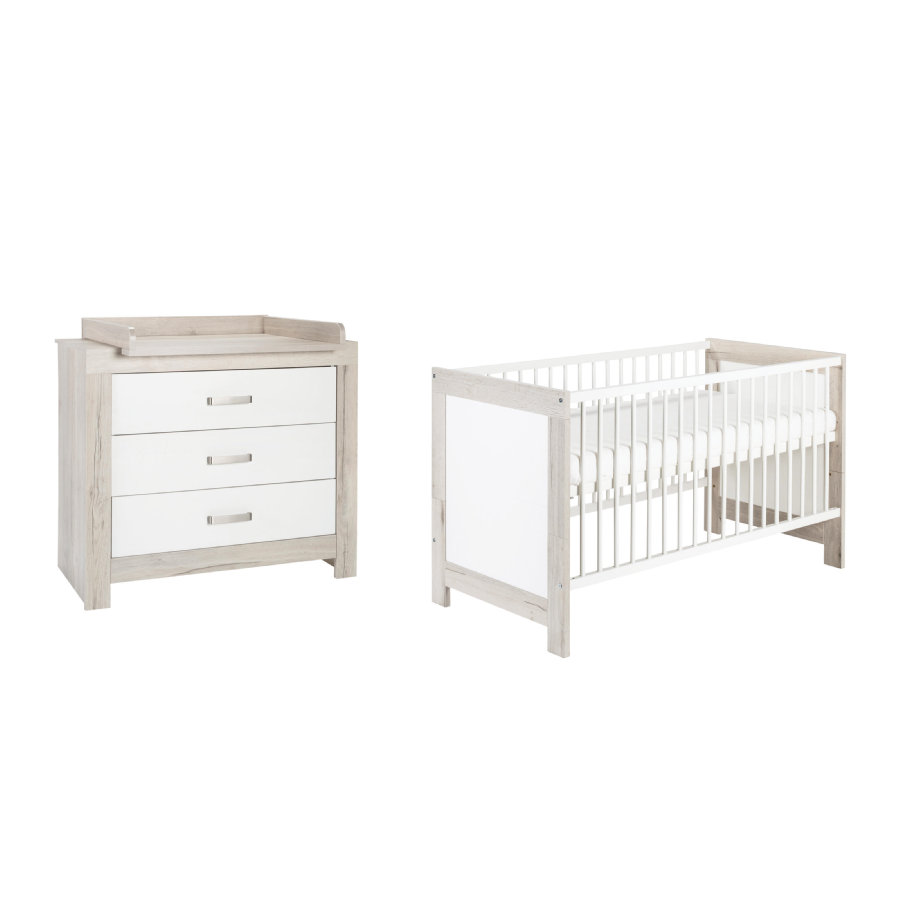 Schardt ensemble lit enfant commode nordic halifax for Ensemble lit commode bebe