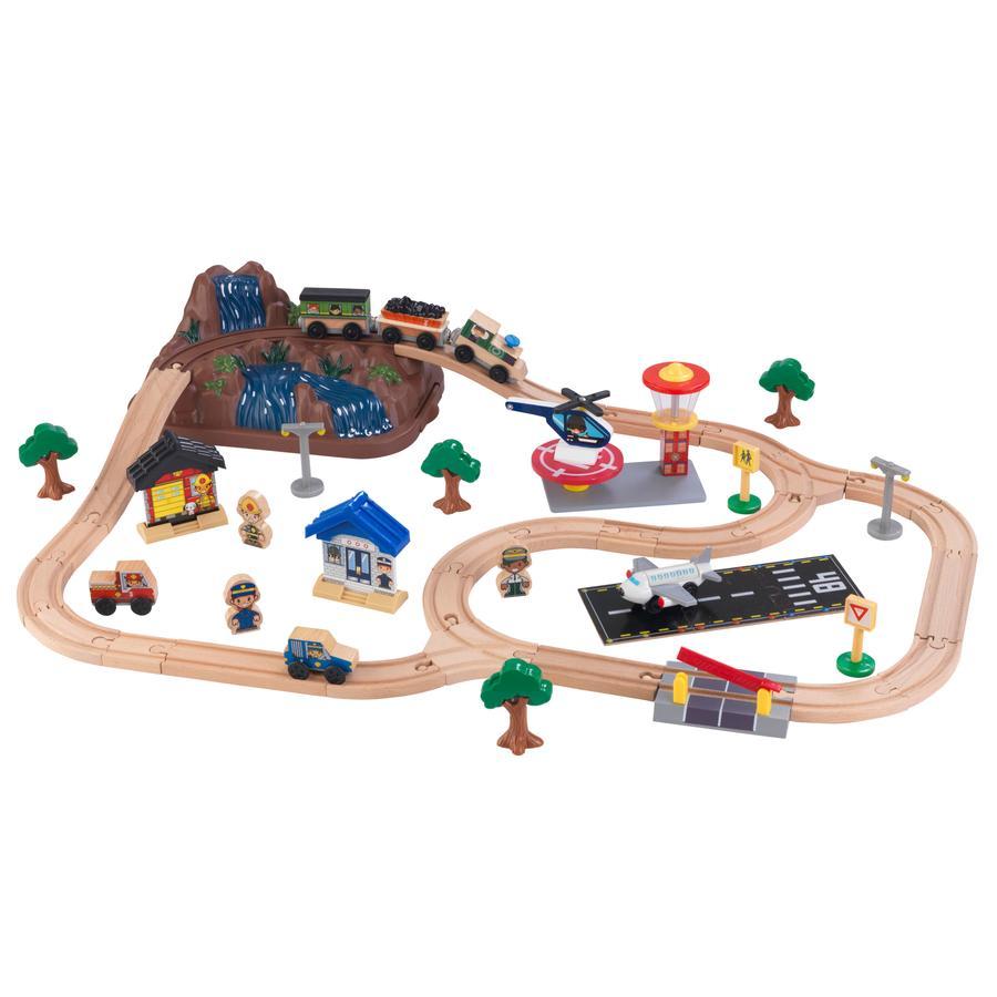 Kidkraft® Eisenbahnset Mountain mit Aufbewahrungsbox