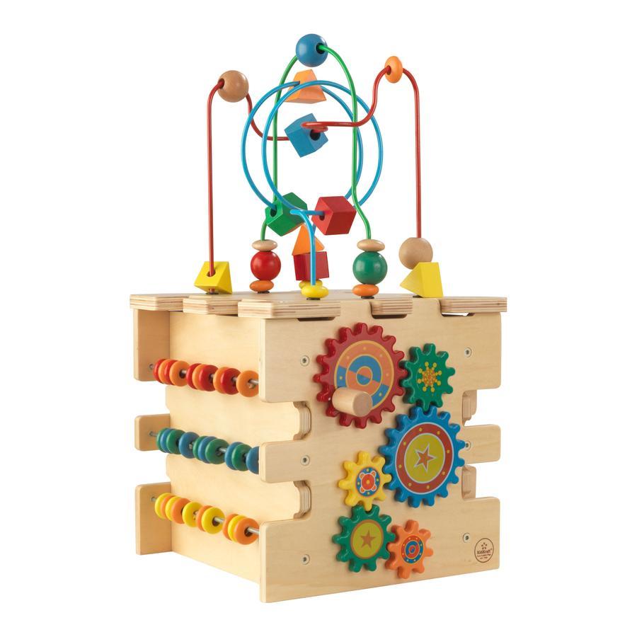 Kidkraft® Cube d'activités Deluxe, bois 63298
