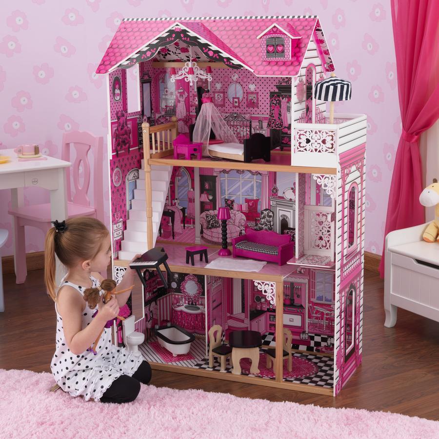 kidkraft maison de poup e amelia bois. Black Bedroom Furniture Sets. Home Design Ideas