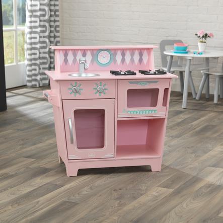 Kidkraft® Cuisine enfant classique rose, bois