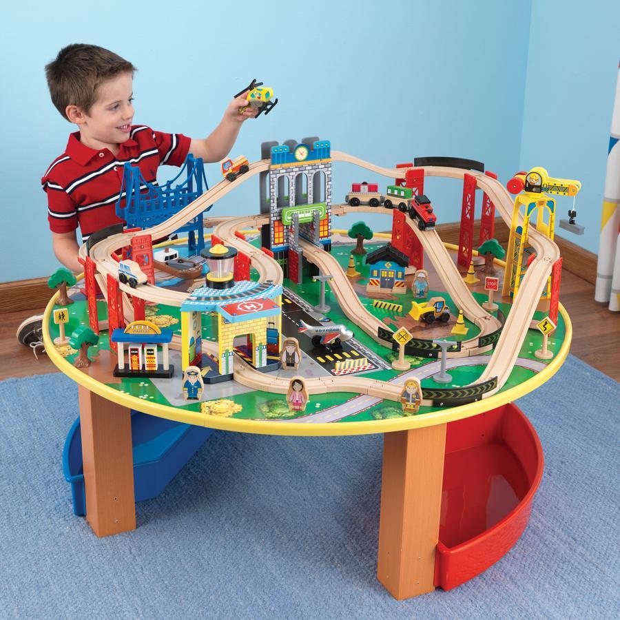 KidKraft® Dřevěná vláčkodráha se stolem
