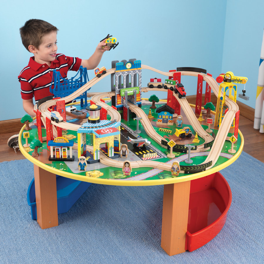 Kidkraft® Railway Set & Speelplaat City Explorer