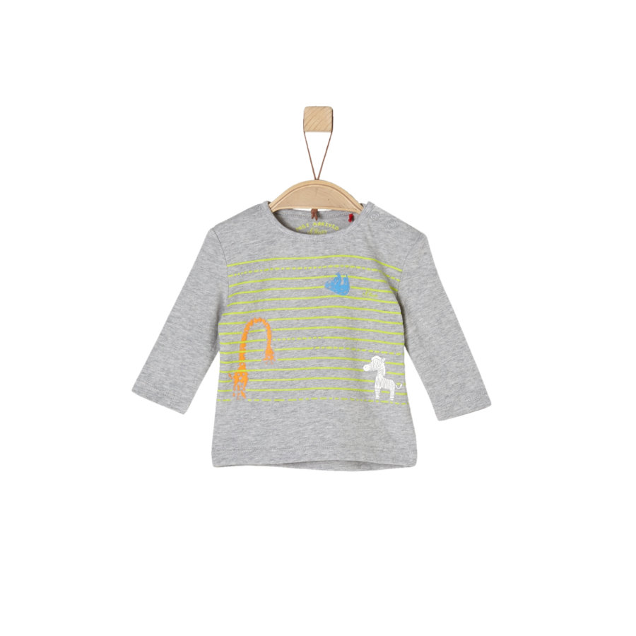 s.Oliver Boys Langarmshirt light grey melange