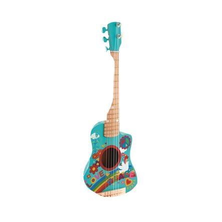 Hape Jouet mini guitare flower power, bois