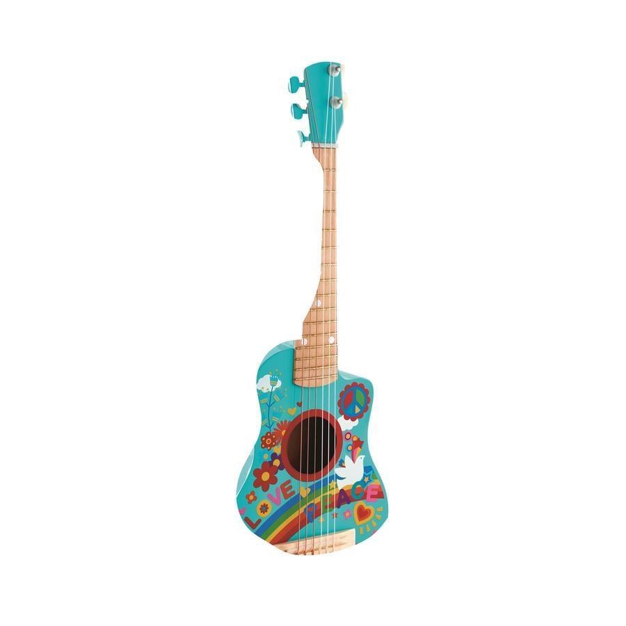 Hape Guitare enfant mini flower power, bois E0600