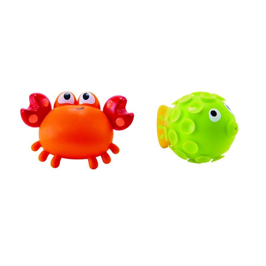 Hape Jouet de bain animaux cracheurs crabe, 2 pièces