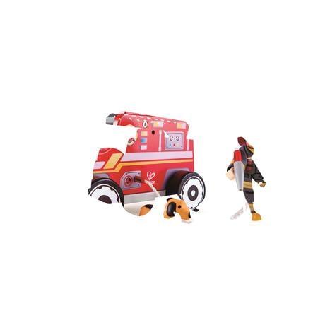 Hape Auto Hasičský vůz s hasičem dřevěný