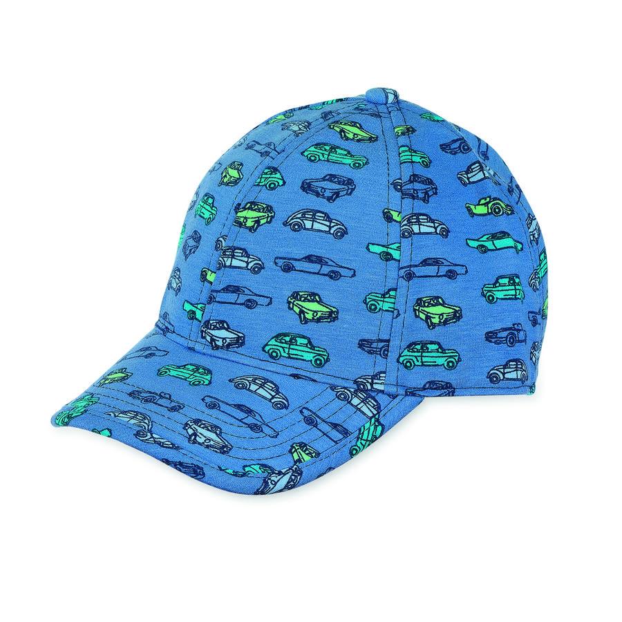 Sterntaler Boys Baseball-Cap Cars jeans blue