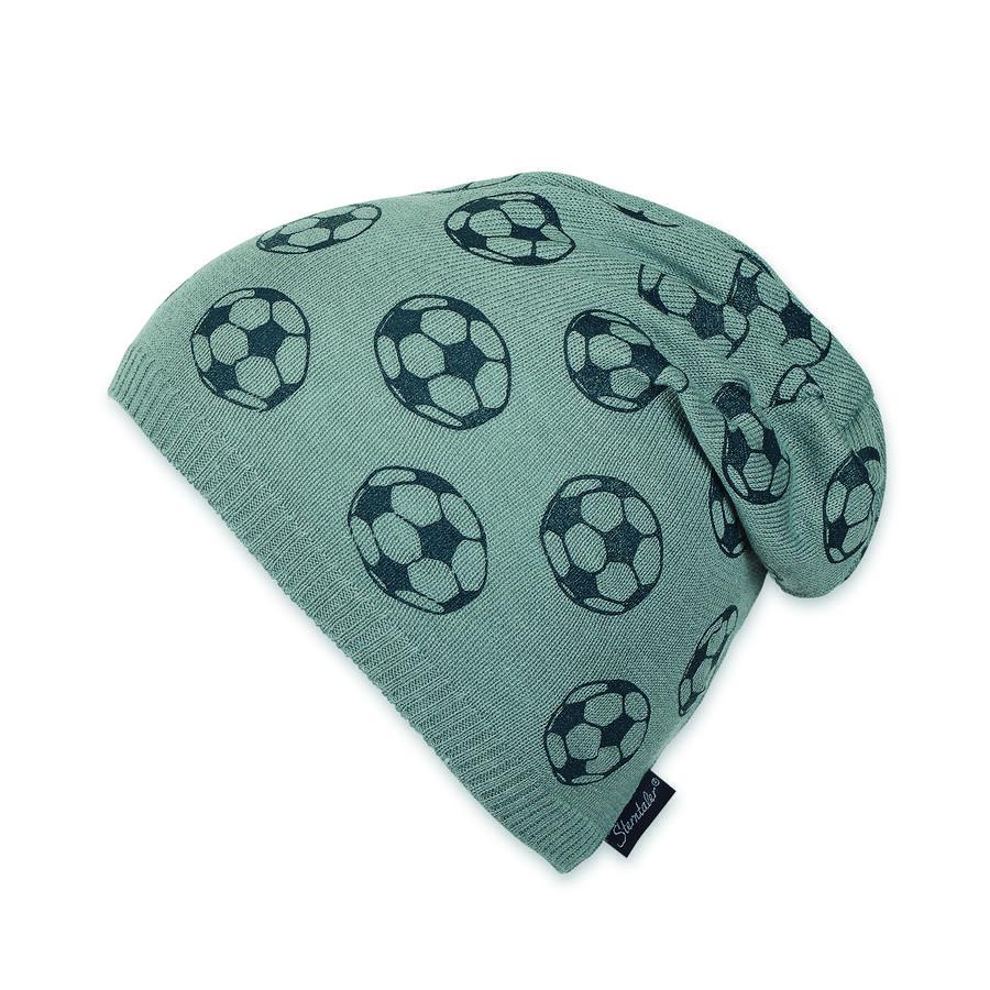 Sterntaler Boys Dzianina czapka piłkarska srebrny melange