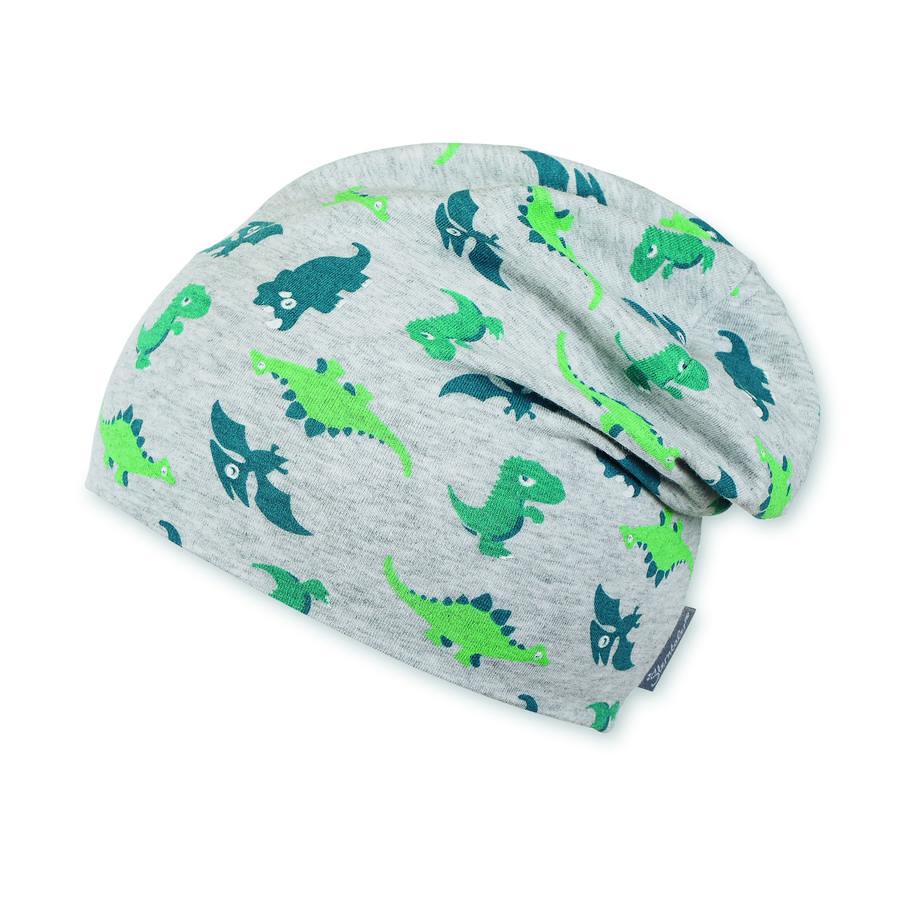Sterntaler Boys Slouch-Beanie Jersey Dino silber