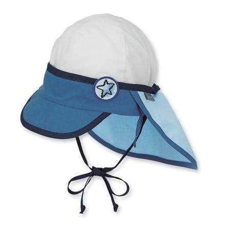 Sterntaler Boys gorra de protección para el cuello, azul/blanco