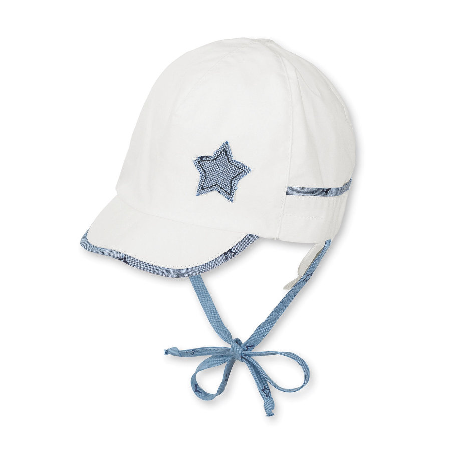 Sterntaler Boys Schirmmütze Sterne weiß