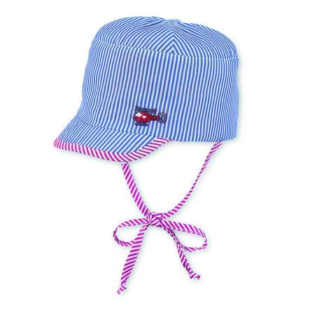Sterntaler Boys reversible S child cap stripes crystal blue