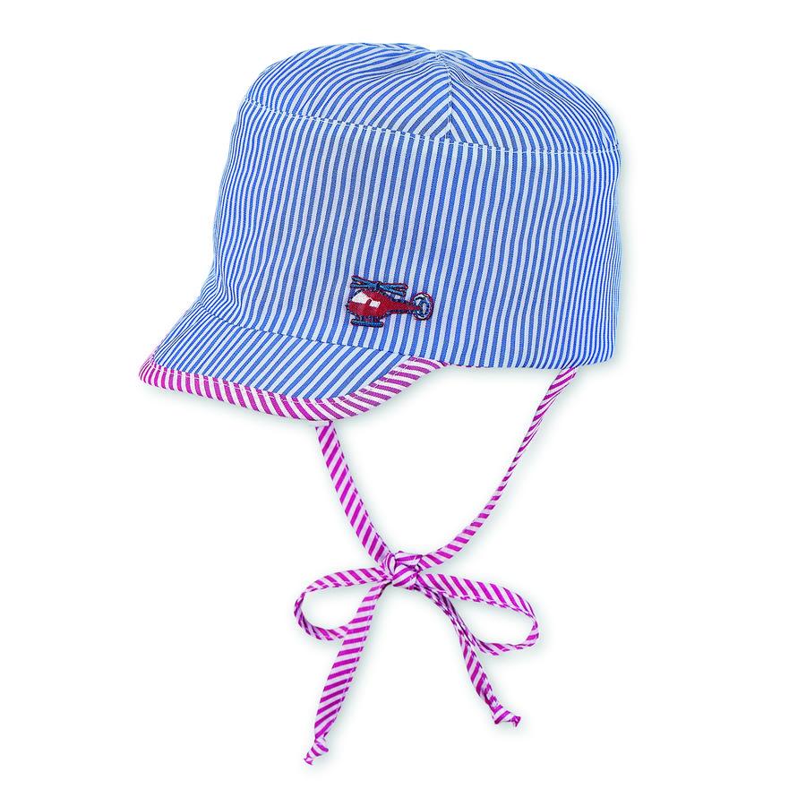 Sterntaler Boys odwracalne, szczytowe paski kapeluszy, paski krystalicznie czyste, niebieskie