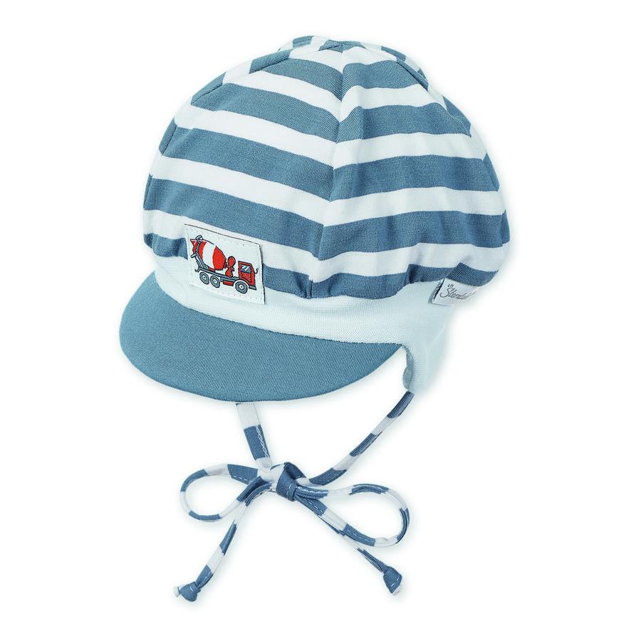 Sterntaler Boys Ballonmütze Jersey Ringel graublau