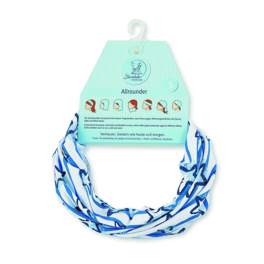 Sterntaler Echarpe multifonctions rayures en jersey bleu cristal