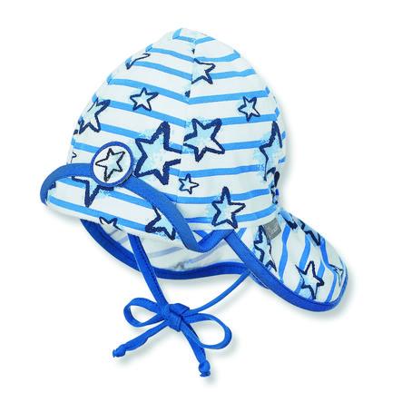 Sterntaler Schildmütze Flapper Jersey Sterne kristallblau