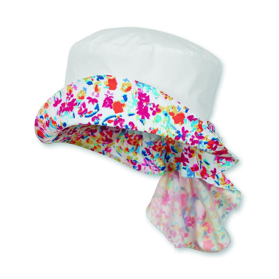 Sterntaler Girl s hoedenhals bescherming zomerweide wit