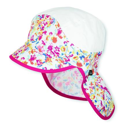 Sterntaler Girl s szczytowa ochrona karku czapki letnia malina łąkowa