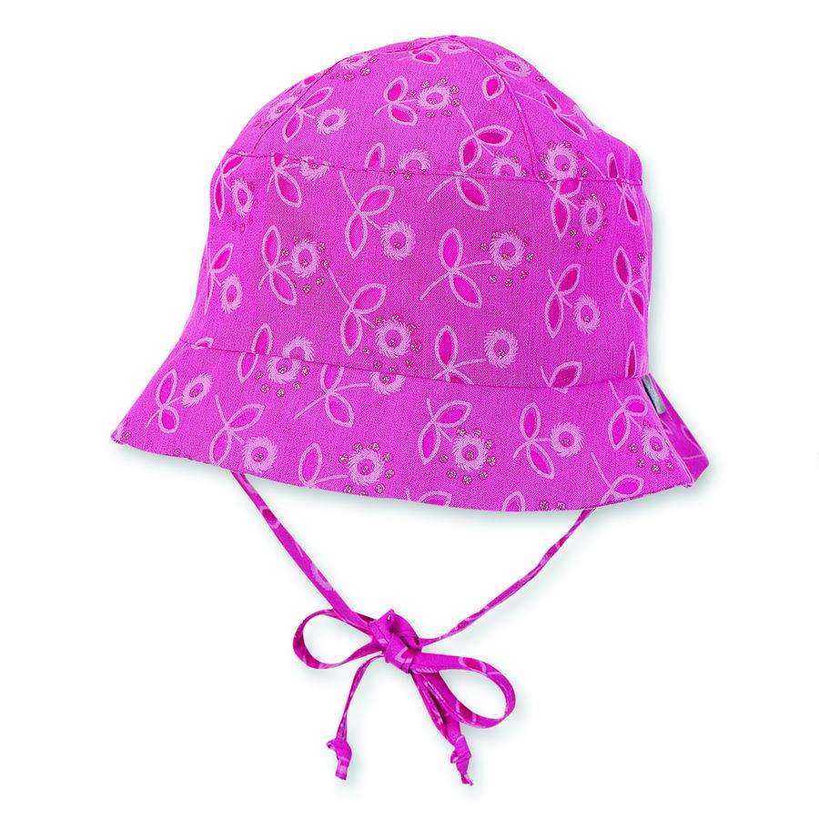 Sterntaler Girls rybářský klobouk květinový vzor magenta
