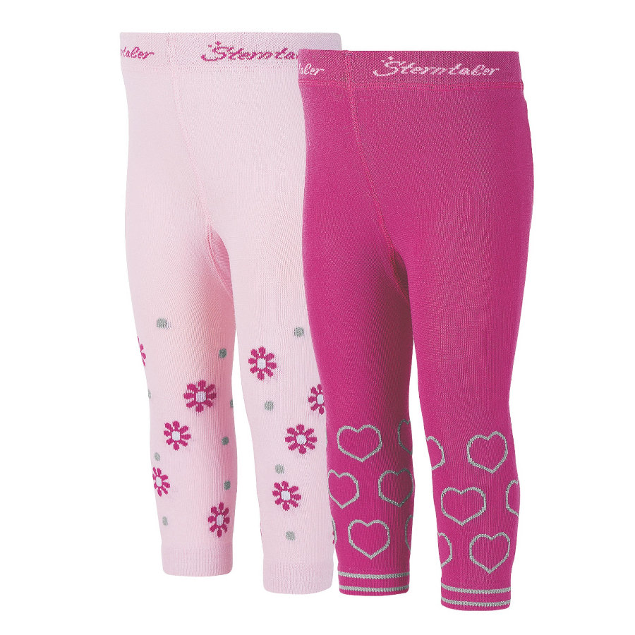 Sterntaler Girls Leggings Herzen/Blumen knallviolett