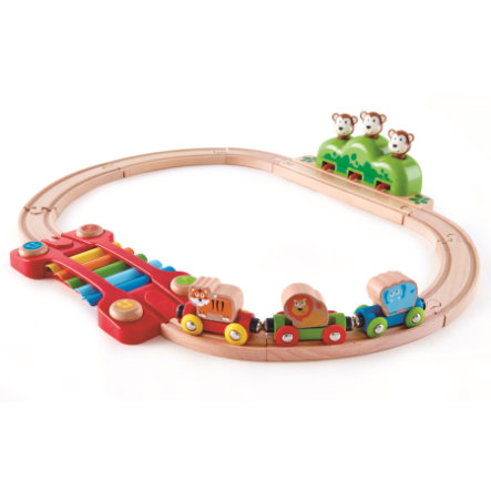 Hape Circuit de train jungle , bois