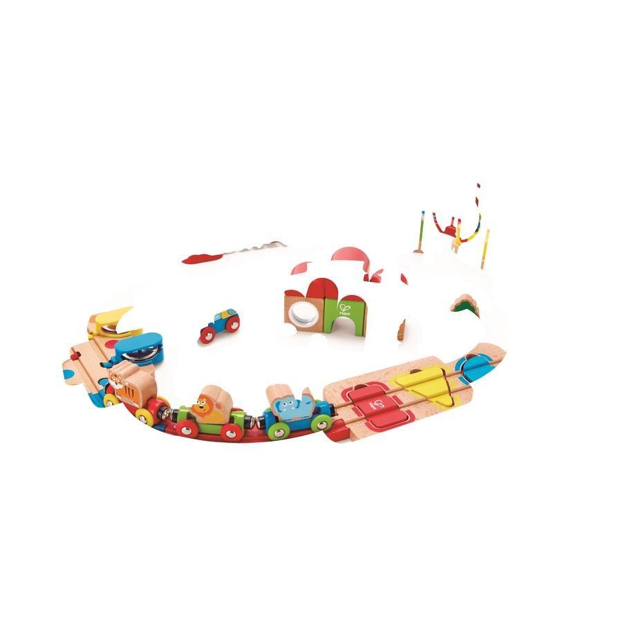 Hape Circuit de train puzzle arc-en-ciel, bois E3826
