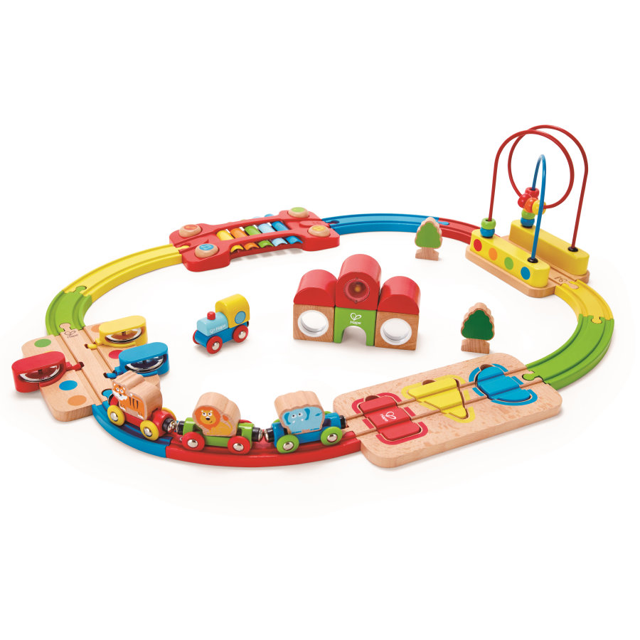Hape Regenbogen-Puzzle-Eisenbahnset