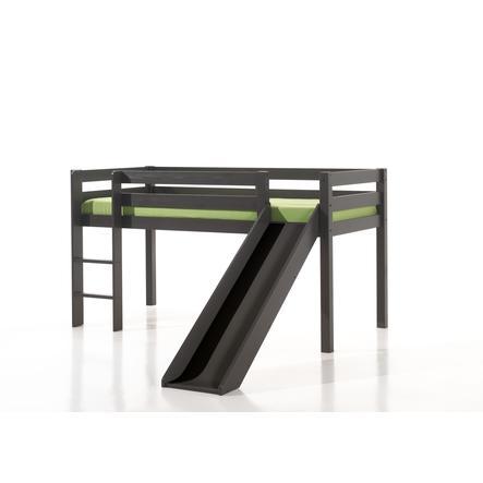 VIPACK Spielbett mit Rutsche Pino taupe