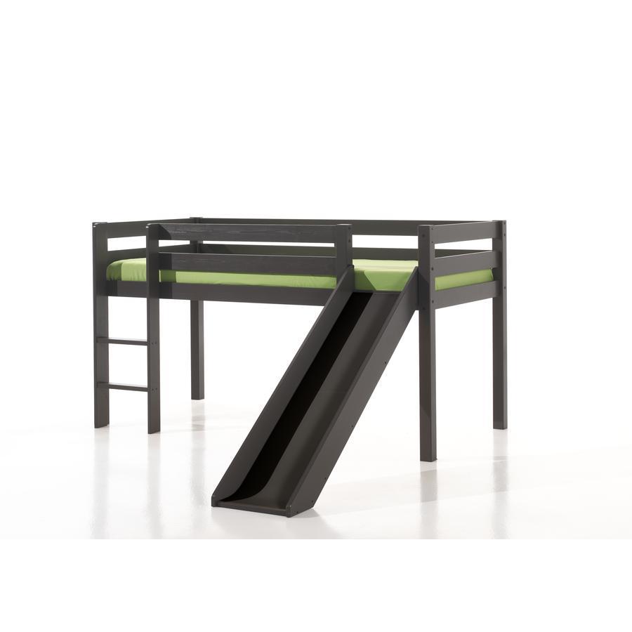 VIPACK Dětská postel se skluzavkou Pino taupe