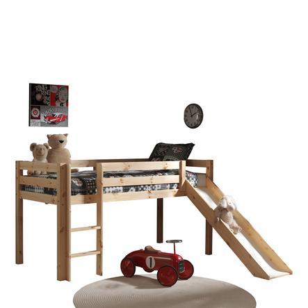 VIPACK Spielbett mit Rutsche Pino natur