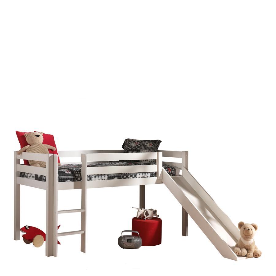 VIPACK Spielbett mit Rutsche Pino weiß