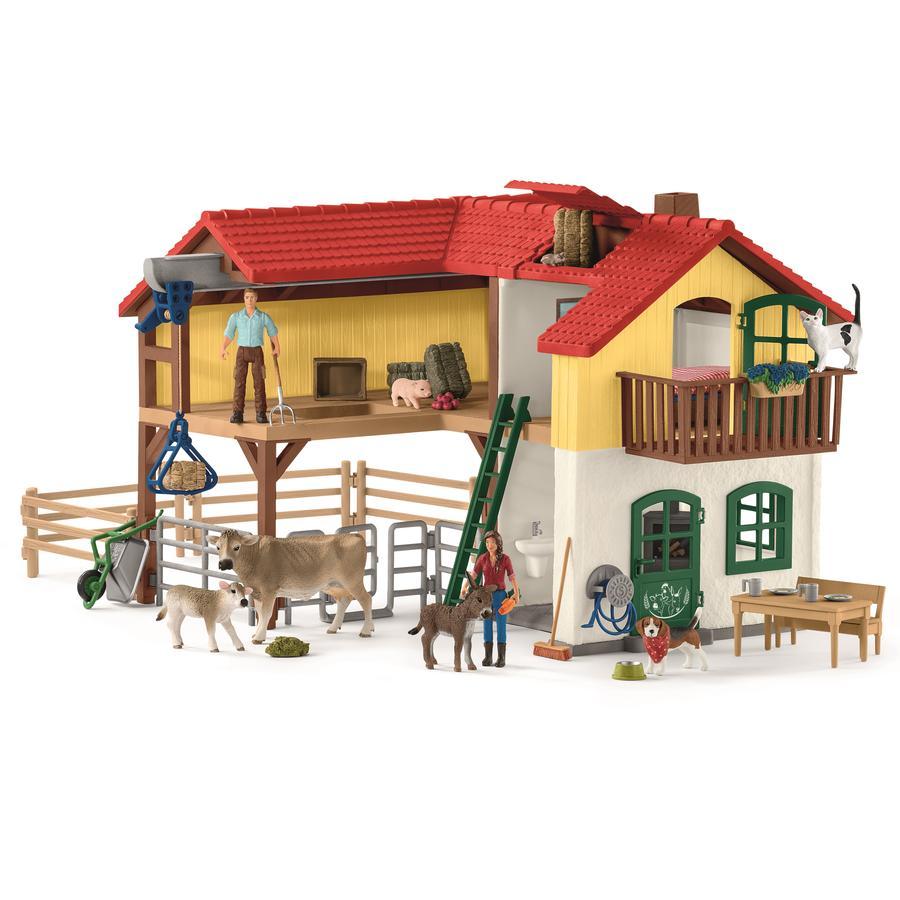 SCHLEICH Maatalo, jossa talli ja eläimiä