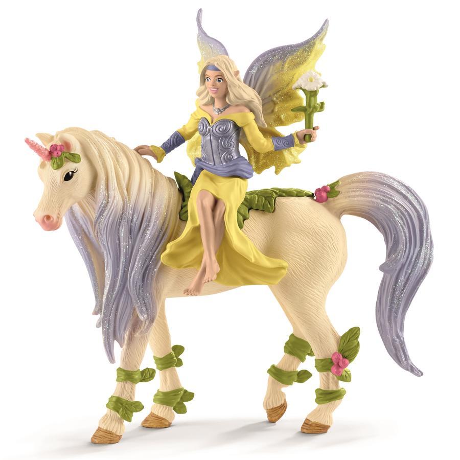 Schleich Figurine fée Sera licorne à fleurs 70565