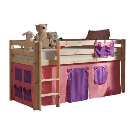 VIPACK dětská postel Pino natur se závěsem Bella