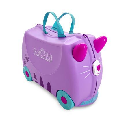 trunki Valise à roulettes enfant chat Cassie, violet