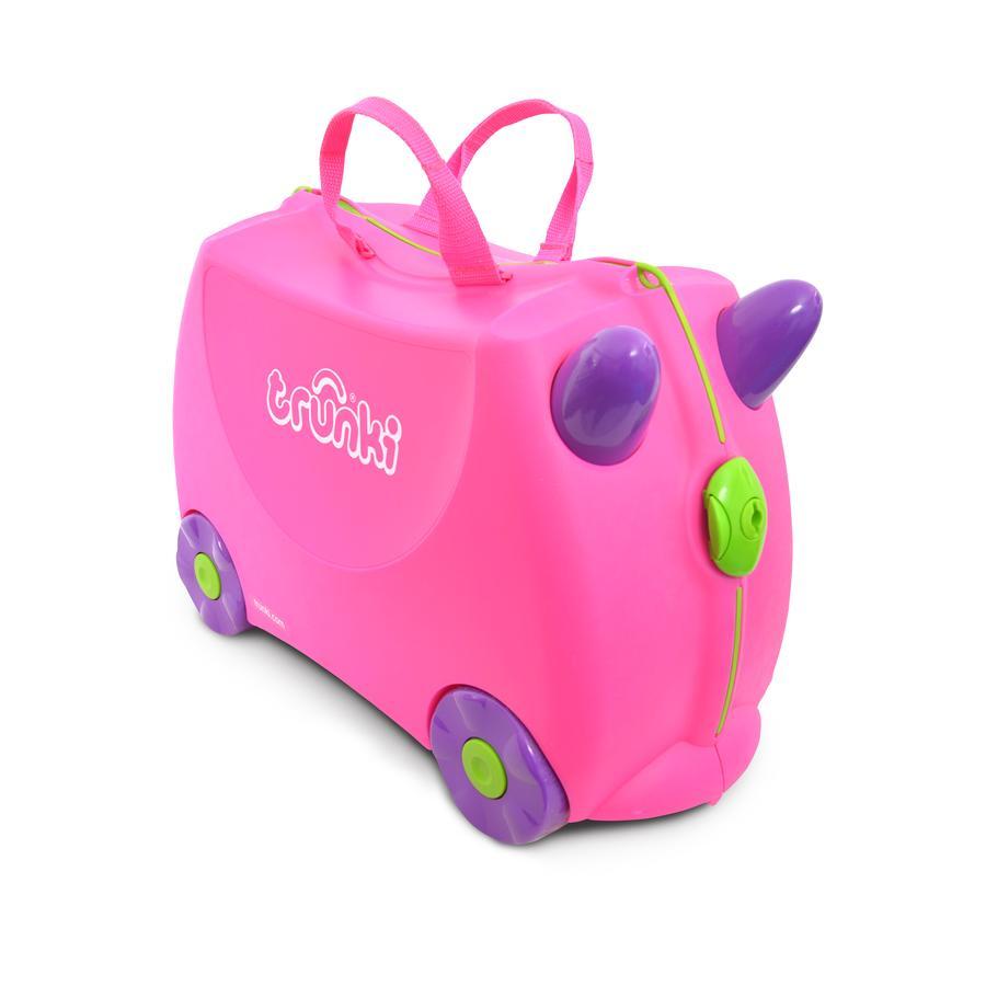 trunki dětský kufřík odrážedlo Trixie růžový