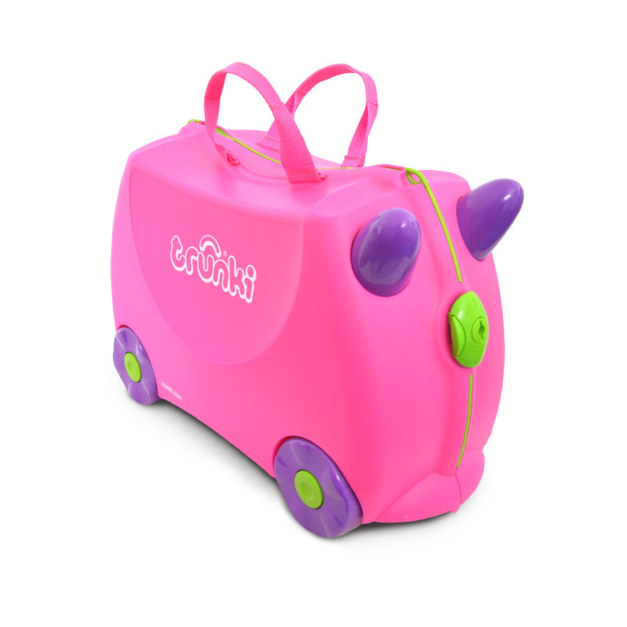 trunki Valigia cavalcabile - Trixie, pink
