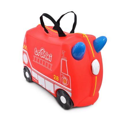 trunki Valise roulettes enfant camion pompier Frank rouge