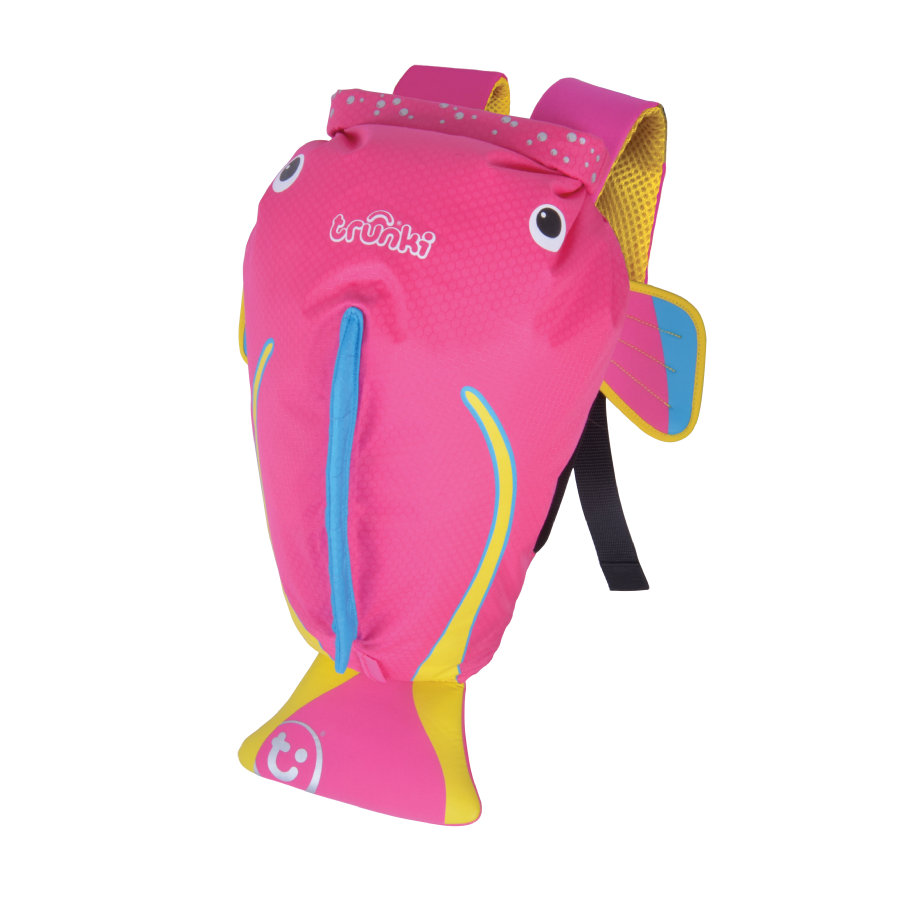 trunki PaddlePak- Wasserfester Kinderrucksack Coral, Pink