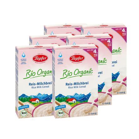 Töpfer Reis Milchbrei Bio 6 x 200 g