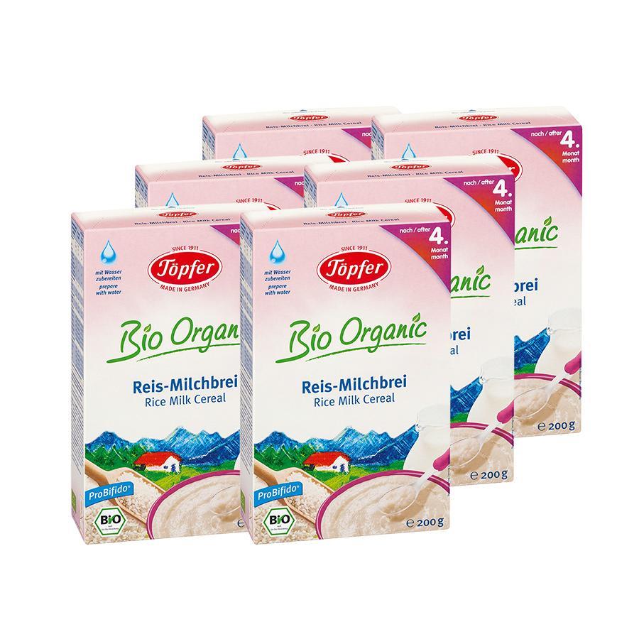 Töpfer Bio Reis Milchbrei 6 x 200 g