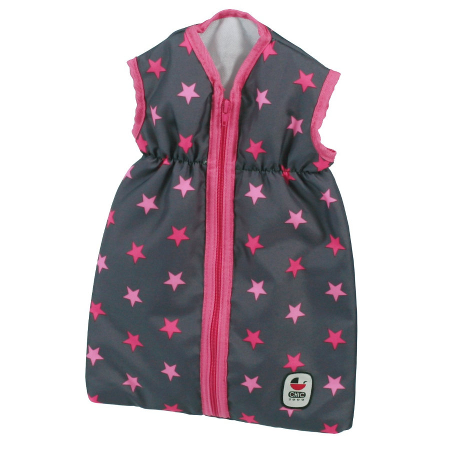 BAYER CHIC 2000 Sovpåse till dockor, pink stars