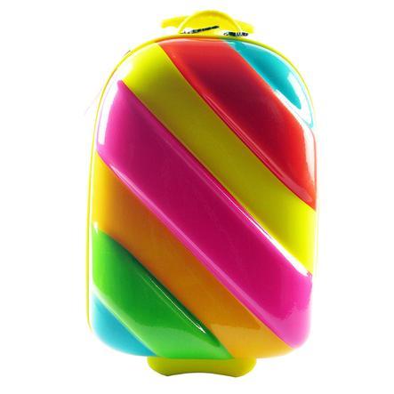 BAYER CHIC Skořepinový kufřík s kolečky - Duha