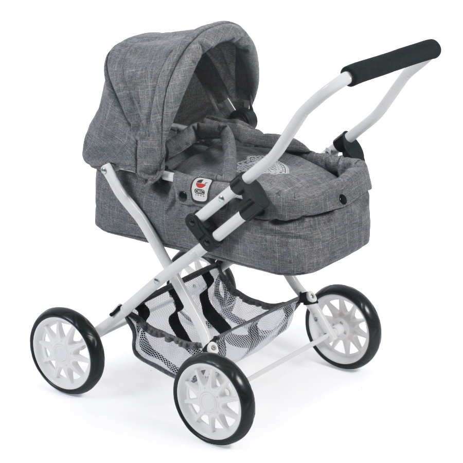BAYER CHIC 2000 Mini-Poppenwagen SMARTY, Jeans grey